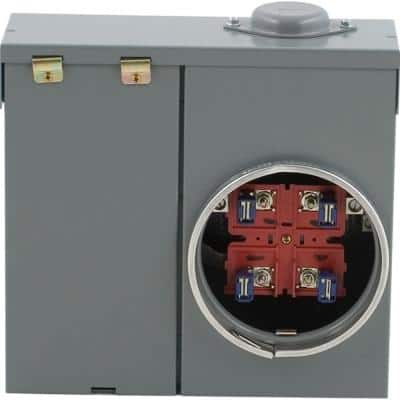 100 Amp Ring-Type Overhead or Underground Main Breaker Meter Socket