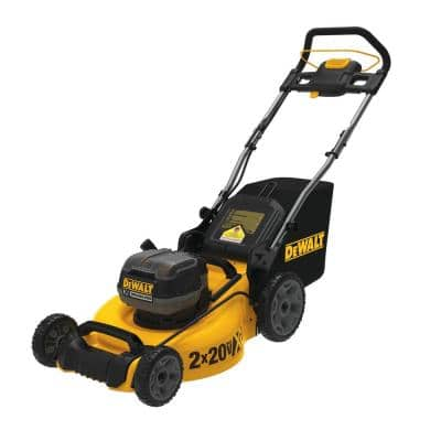 20 in. 20V MAX Lithium-Ion Cordless Walk Behind Push Lawn Mower with (2) 9.0Ah Batteries and (2) Chargers Included