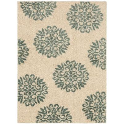 Exploded Medallions Starch 3 ft. 4 in. x 5 ft. 6 in. Indoor Area Rug