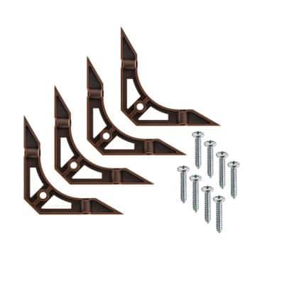 4.1 in. Brown Plastic Cabinet Corner Braces (4-Pack)