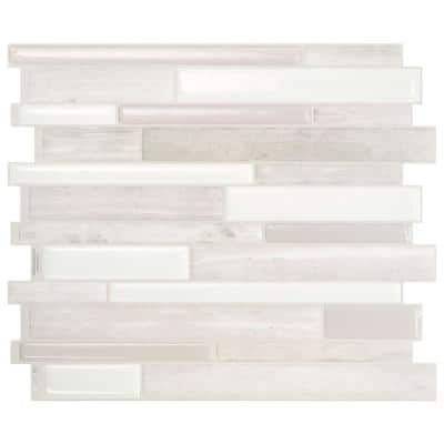 Milano Fabrini Taupe 11.55 in. x 9.63 in. Vinyl Peel and Stick Tile (2.80 sq. ft./ 4-pack)