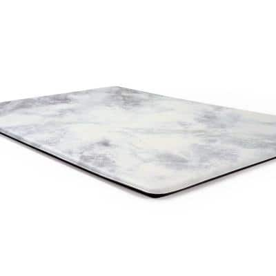 White Kitchen Marble Pattern 18 in. x 47 in. Anti Fatigue Standing Mat
