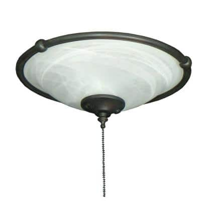 173 Ringed Bowl Oil Rubbed Bronze Ceiling Fan Light