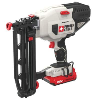 20-Volt MAX Lithium-Ion 16-Gauge Cordless  Nailer with Battery 1.5 Ah and Charger