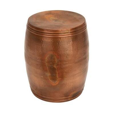 Litton Lane 14 in. Copper Aluminum Vintage Accent Table