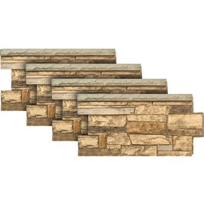 Ledgestone Wainscot #65 Mountain Country 48 in. x 24 in. Stone Veneer Panel (4-Pack)