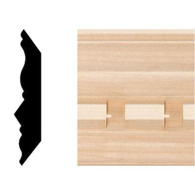 3/4 in. x 3-5/8 in. x 8 ft. Hardwood Dentil Crown Moulding