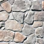 Easy Stack 1.5 in. to 4 in. x 5 in. to 9 in. Gray Hill Mortared on Concrete Field Stone Flat 8 sq. ft. per box