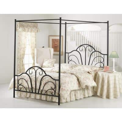Dover Textured Black Full Canopy Bed