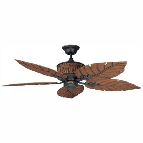 Indoor Outdoor Rustic Iron Ceiling Fan, Rustic Outdoor Ceiling Fans Without Lights