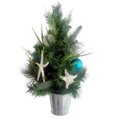 22 in. Coastal Indoor Mixed Pine Tree