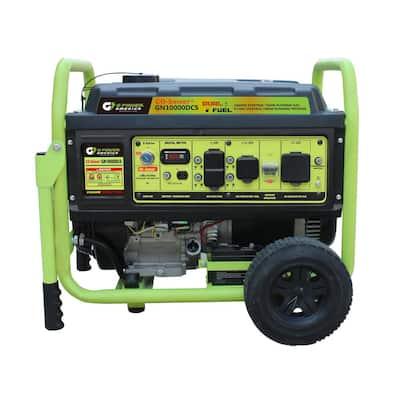 10000-Watt Electric Start Gasoline/Propane Portable Generator with CO Detector