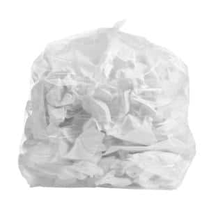 30 in. W x 36 in. H 20 Gal. to 30 Gal. 1.5 mil Clear Trash Bags (100- Count)