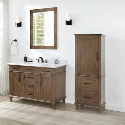 Sonoma 23 in. W x 15 in. D x 60 in. H Linen Cabinet in Almond Latte