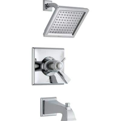 Dryden TempAssure 17T Series 1-Handle Tub and Shower Faucet Trim Kit Only in Chrome (Valve Not Included)