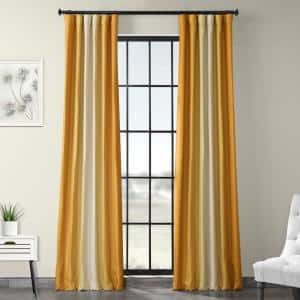 Parallel Gold Novelty Blackout Curtain - 50 in. W x 84 in. L