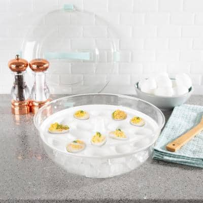 4-in-1 Cold Appetizer Chilled Serving Tray