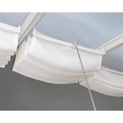 10 ft. x 14 ft. White Roof Blinds for Patio Cover