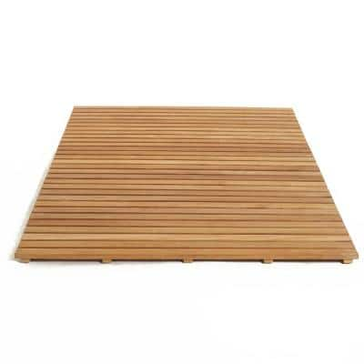 60 in. W x 40 in. D Bathroom and Shower Mat in Natural Teak