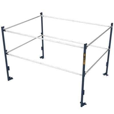 Saferstack 10 ft. W x 5 ft. H Galvanized Steel Guard Rail System with Wedge Clamp, Safety Equipment for Scaffold Tower