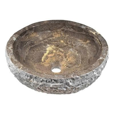Umbral Ash Vessel Sink in Blue Stone