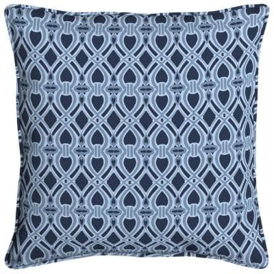Midnight Trellis Square Outdoor Throw Pillow (2-Pack)