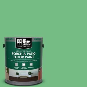 1 gal. #P400-5 Winter Shamrock Low-Lustre Enamel Interior/Exterior Porch and Patio Floor Paint