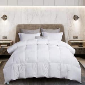 240TC Year Round Warmth White Full/Queen Size White Goose Feather And White Goose Down Comforter