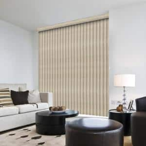 Marble Gray Room Darkening Vertical Blind for Sliding Door or Window - Louver Size 3.5 in. W x 84 in. L(9-Pack)