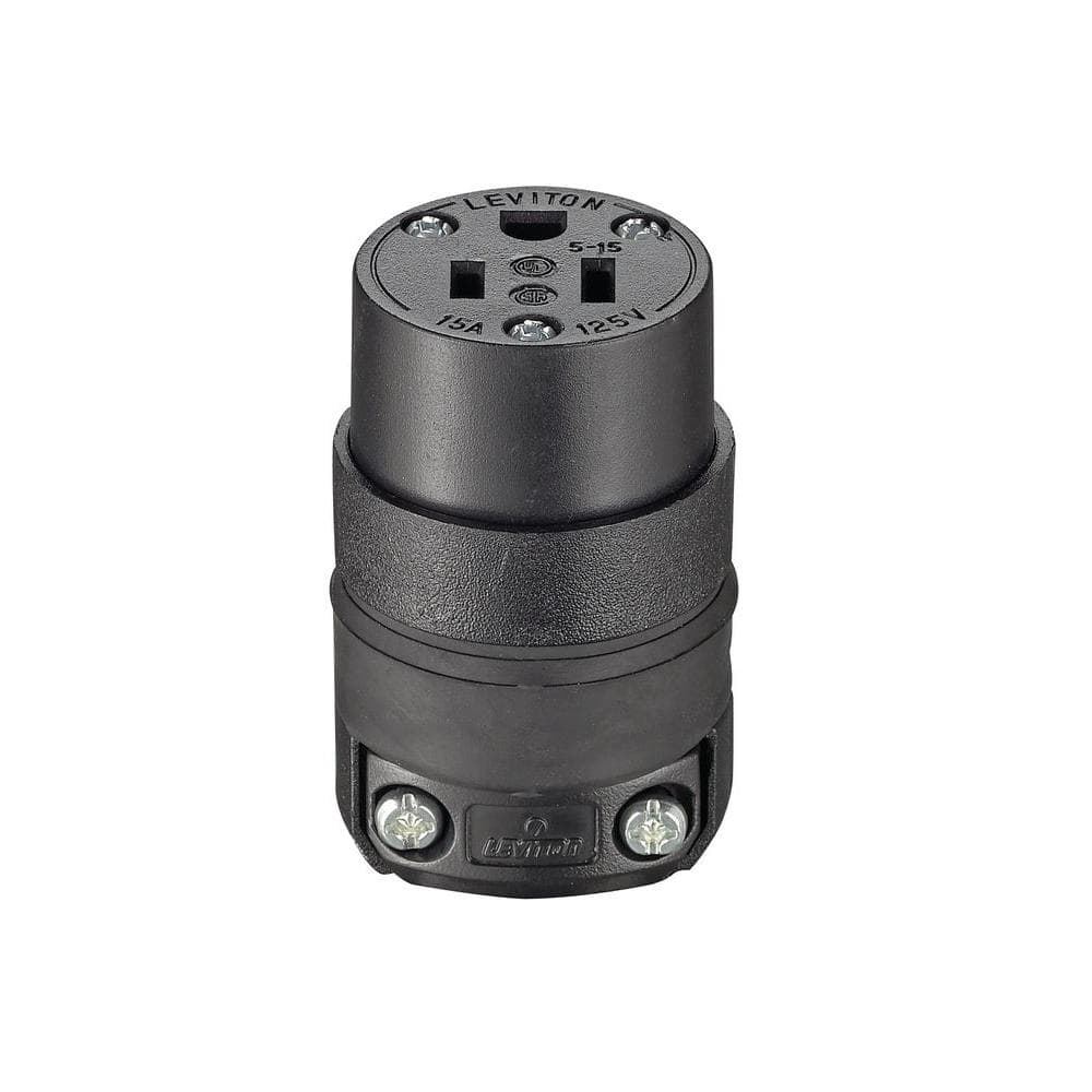 Leviton Black Cam Plug Tapping Tee Connector 15 Series Taper Nose 600V 15A22-E