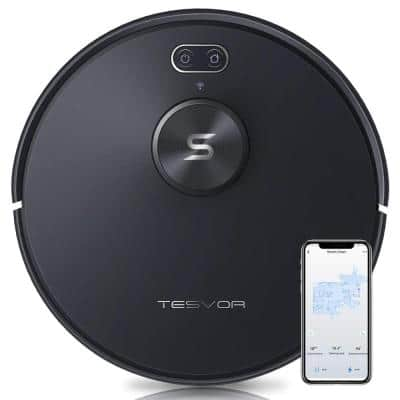Laser Navigation Robotic Vacuum Cleaner 2700Pa Strong Suction Auto-Charging Wi-Fi Enabled