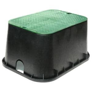 13 in. x 20 in. Standard Jumbo Valve Box with ICV Overlapping Cover