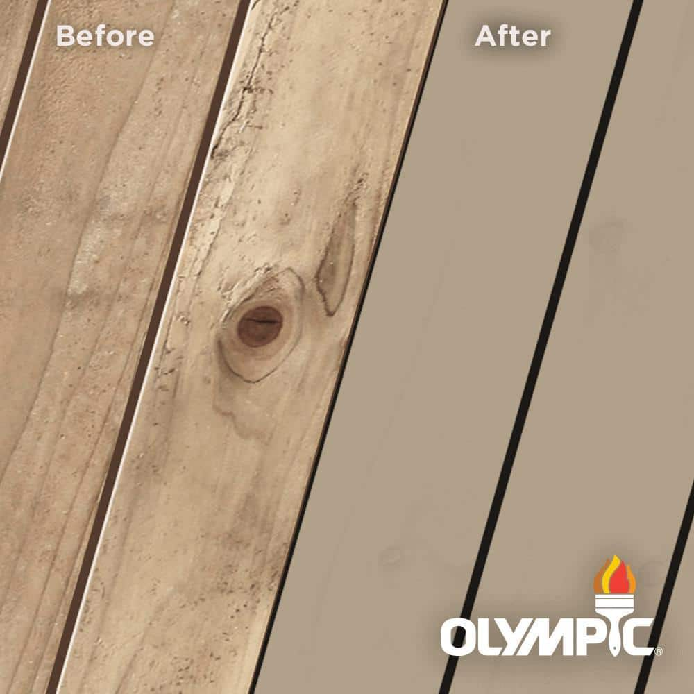 Olympic Maximum 1 Gal Taupe Solid Color Exterior Stain And Sealant In One Oly333 01 The Home Depot