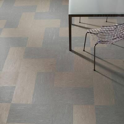 Premium Excelon Raffia 12 in. x 24 in. Cocoa Commercial Vinyl Tile Flooring (44 sq. ft. / case)