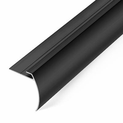 8 mm Dark Bronze 1.75 in. x 74 in. LVT Aluminum Tap Down Stair Nosing Transition Strip