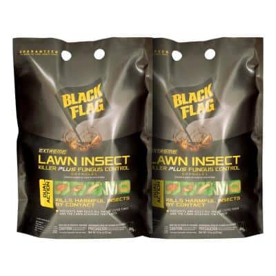 Black Flag Extreme 640 Oz Lawn Insect Killer Plus Fungus Control Granules 2 Pack Hg 11212 The Home Depot