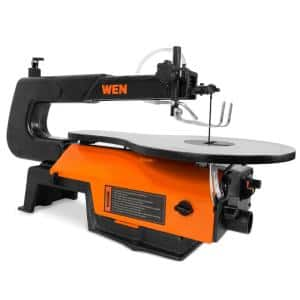 16-inch Variable Speed Scroll Saw with Easy-Access Blade Changes