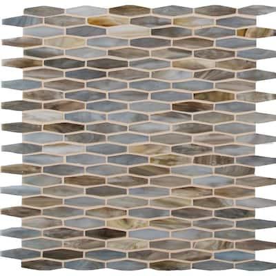 Mochachino 12 in. x 12 in. x 3 mm Glass Mesh-Mounted Mosaic Tile (20 sq. ft. / case)