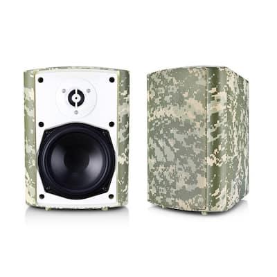 6.50 in. BT BLAST Indoor/Outdoor Wireless Bluetooth Speaker, Camouflage, Pair