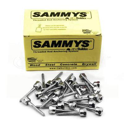 1/4 in. x 1 in. Vertical Rod Anchor Super Screw 3/8 in. Threaded Rod Fitting for Wood (25-Pack)