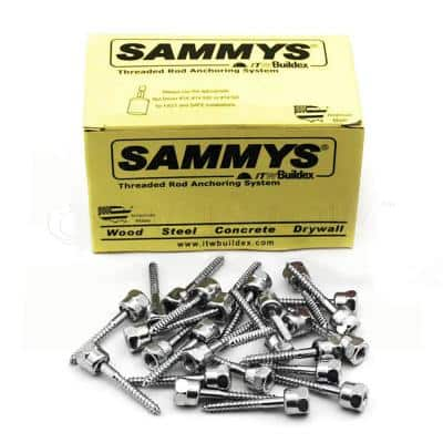 3/8 in. x 2-1/2 in. Vertical Rod Anchor Super Screw 3/8 in. Threaded Rod Fitting for Wood (25-Pack)