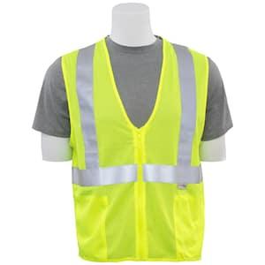S15Z XL Hi Viz Lime Poly Mesh Safety Vest