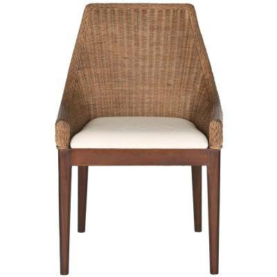 Franco Brown Sloping Cotton Chair