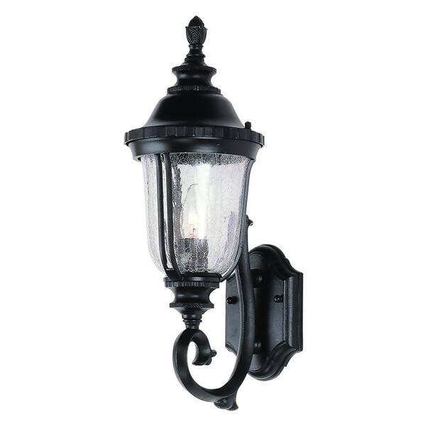 Bel Air Lighting Chessie 1 Light Black, Home Depot Outdoor Wall Lighting Black