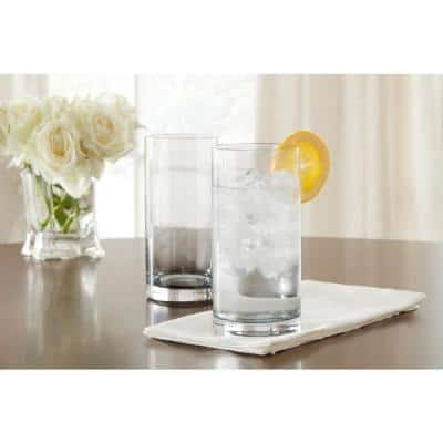 Skylar Charcoal Gray Ombre 12.4 oz. Double Old-Fashioned and 19.8 oz. Highball Glasses (Set of 8)