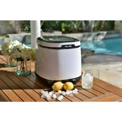 Portable 50 lb. of Ice a Day Countertop Ice Maker BPA Free Parts with One Button Operation and Easy to Clean - White