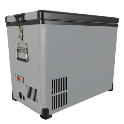 Elite 45 Qt. SlimFit 1.48 cu. ft. Frost Free Portable Freezer in Gray with 12-Volt Option