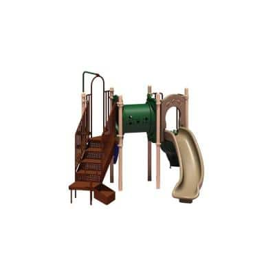 UPlay Today Deer Creek (Natural) Commercial Playset with Ground Spike