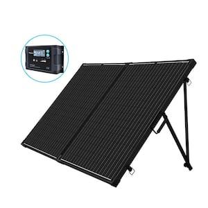 200-Watt 12-Volt Monocrystalline Foldable Suitcase Off-Grid Solar Power Kit with Voyager