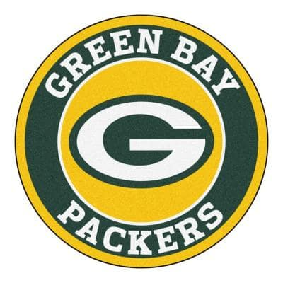 NFL Green Bay Packers Green 2 ft. x 2 ft. Round Area Rug